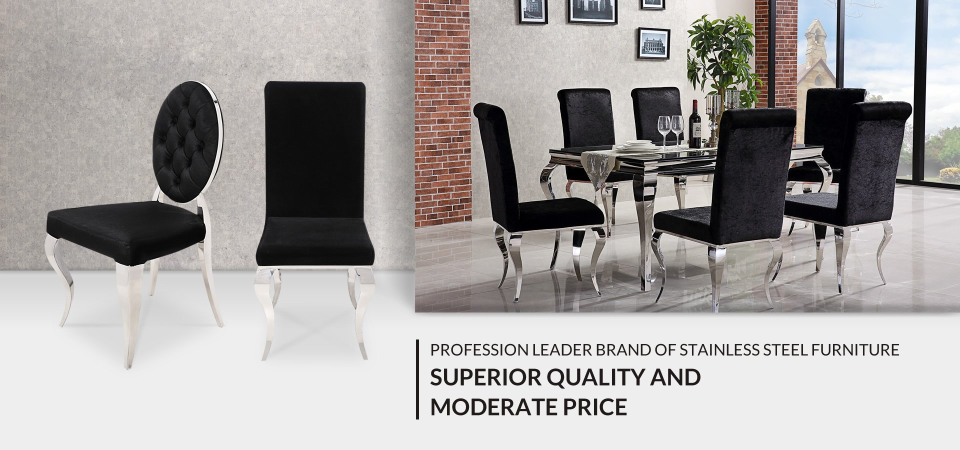 High Quality Glass And Stainless Steel Furniture Manufacturer